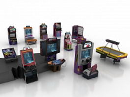 Arcade gaming machines 3d model