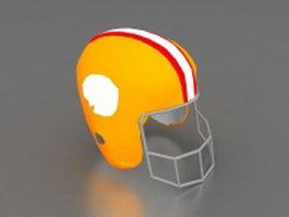 American football helmet 3d model