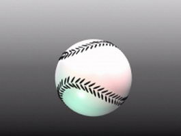 White softball 3d model
