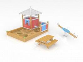 Kids playground equipment 3d model