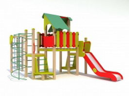 Kids outdoor playsets 3d model