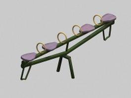 Playground seesaw 3d model