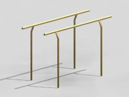 Playground parallel bars 3d model