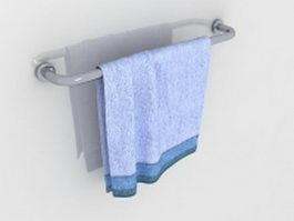 Towel bar for bathroom 3d model