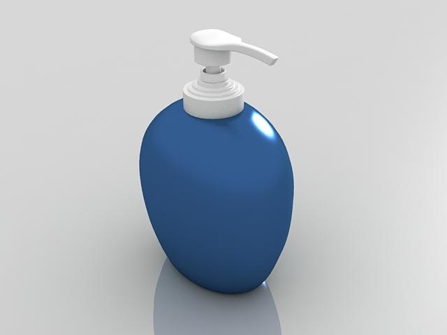 Blue soap dispenser 3d model - CadNav