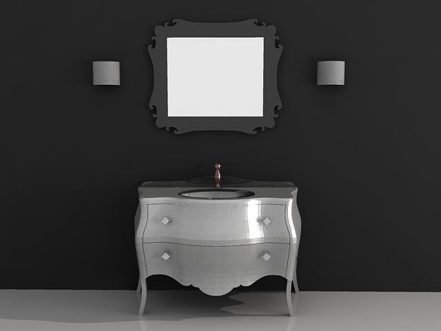 Bathroom Vanity Cabinet With Mirror 3d Model Files Free