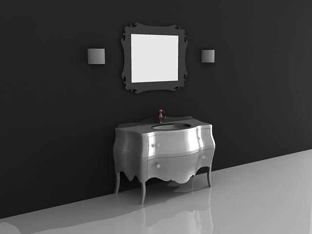 Bathroom Vanity Cabinet With Mirror 3d Model Files Free Download Modeling 27979 On Cadnav