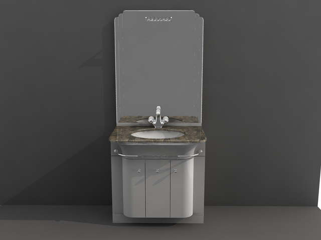 Small Bathroom Vanity Combo 3d Model 3d Studio 3ds Max