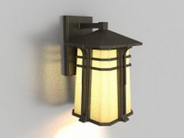 Modern outdoor wall sconce 3d model