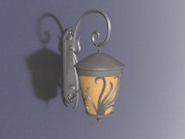 Vintage wall lantern lamp 3d model
