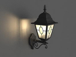 Wall mounted lantern light 3d model