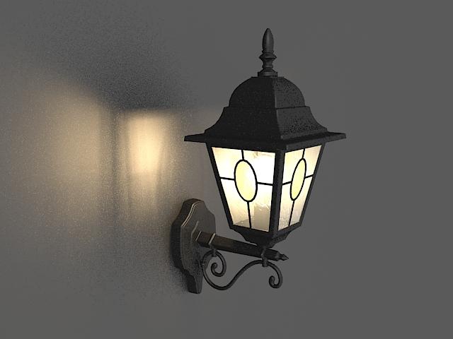Wall mounted lantern light 3d model