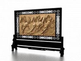 Antique room divider stand 3d model