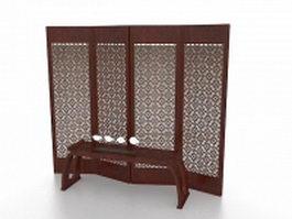 Oriental screens room divider 3d model