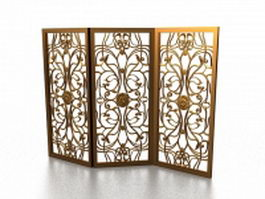 Decorative folding screens 3d model