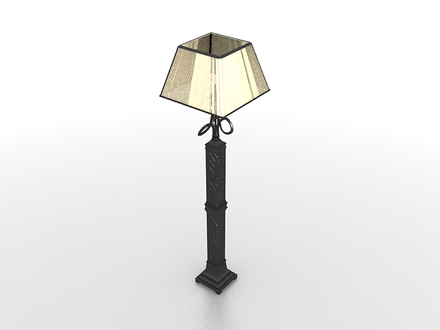 Black Wrought Iron Floor Lamp 3d Model 3ds Max Files Free