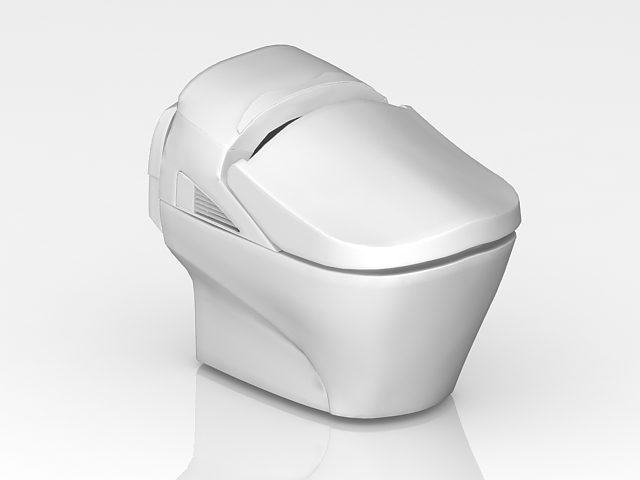 Bidet toilet 3d model 3ds max files free download modeling 28069