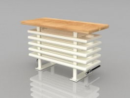 Radiator bench seat 3d model