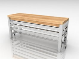 Bench over radiator 3d model