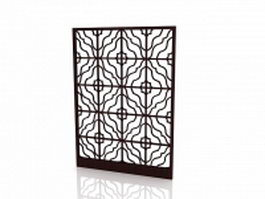 Interior decorative screen panel 3d model