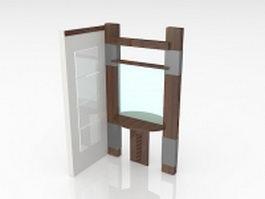 Corner room divider 3d model