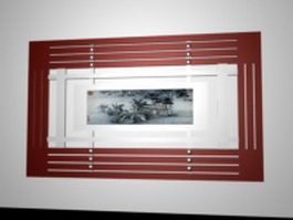 Decorative radiator cover for home 3d model