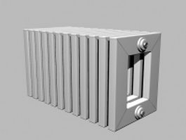 Hot water heat radiator 3d model