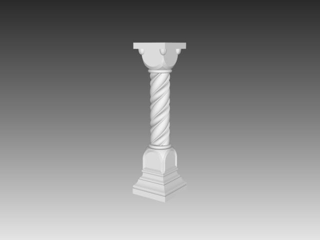 Pedestal baluster 3d model 3ds max files free download - modeling