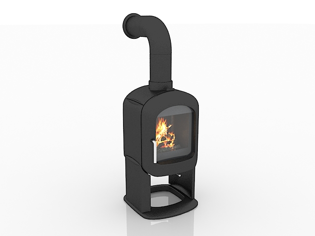 Ventless Gas Stove Fireplace 3d Model Cadnav