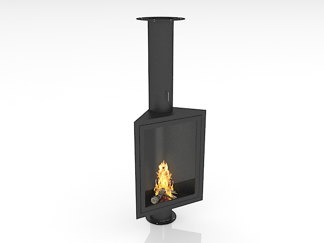 corner gas fireplace 3d model 3ds max files free download modeling rh cadnav com free standing corner ventless gas fireplace