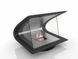 Bio Ethanol fireplace 3d model