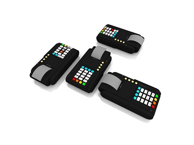 Credit card machines terminals 3d model