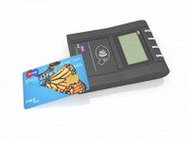 Wireless credit card reader 3d model