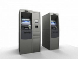 Bank ATM machines 3d model