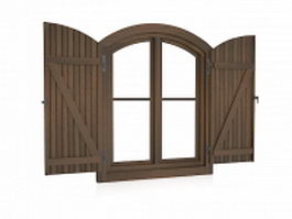 Cottage style window 3d model