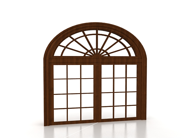 French Casement Arched Window 3d Model 3ds Max Files Free