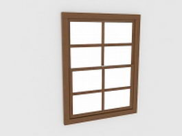 Basement hopper windows 3d model