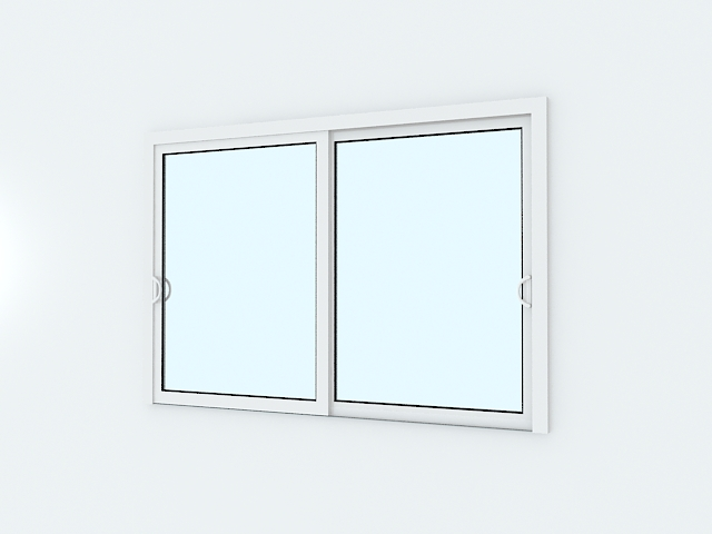 Aluminum slider windows 3d model 3ds max files free for Window 3d model
