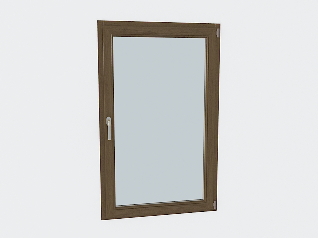Single Casement Window 3d Model Cadnav