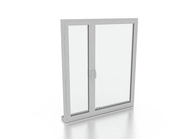 Aluminum casement windows 3d model 3ds max files free for Window 3d model