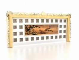Home feature wall design 3d model