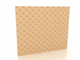Padded wall covering 3d model