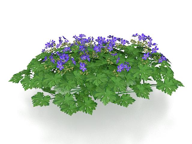 Purple Flowering Bush 3d Model 3ds Max Files Free Download