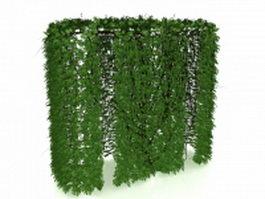 Ivy hedge 3d model