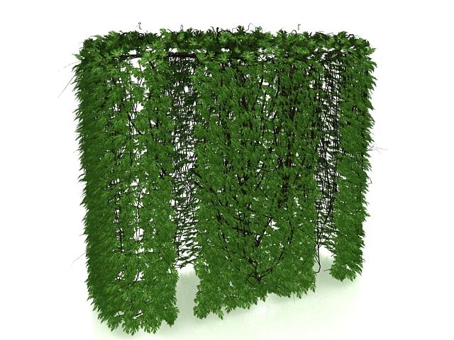 Ivy hedge 3d rendering