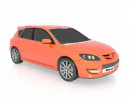 Mazdaspeed 3 sedan car 3d model