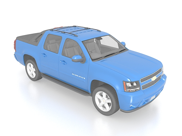 Chevrolet Avalanche Pickup Truck 3d Model 3ds Max Files Free