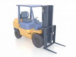 Electric forklift truck 3d model