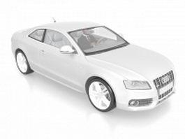 Driver in Audi car 3d model