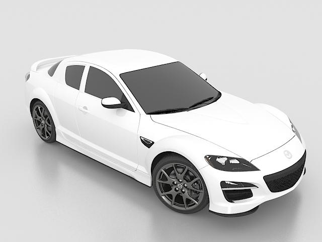Mazda Rx 8 Sports Car 3d Model 3ds Max Files Free Download
